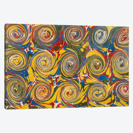 Decorative end paper VI Canvas Print #BMN4994} by English School Canvas Print