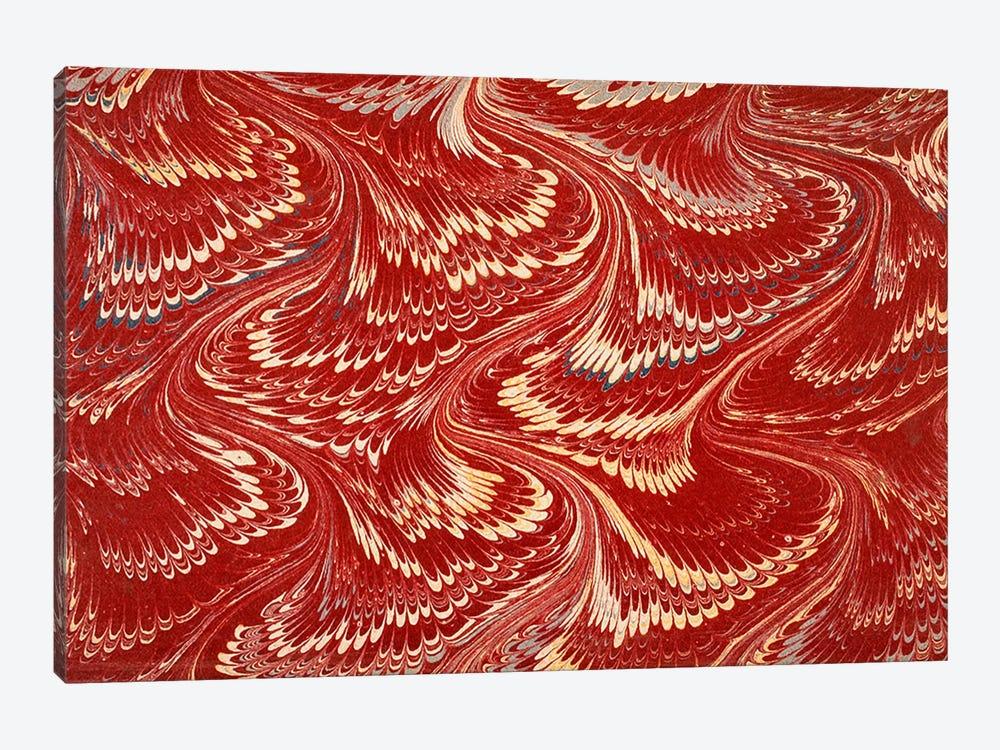 Decorative end paper X by English School 1-piece Canvas Print