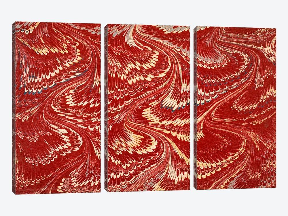 Decorative end paper X by English School 3-piece Canvas Print