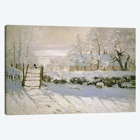 The Magpie, 1869  Canvas Print #BMN499} by Claude Monet Canvas Art Print