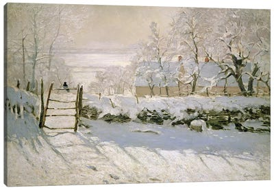 The Magpie, 1869  Canvas Print #BMN499
