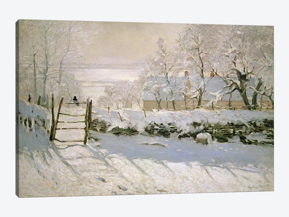 The Magpie, 1869  by Claude Monet 1-piece Canvas Artwork