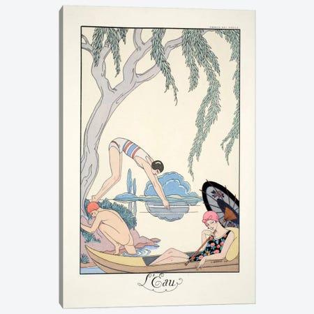 Water, from 'Falbalas & Fanfreluches, Almanach des Modes Présentes Canvas Print #BMN49} by George Barbier Canvas Art