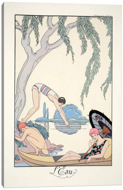 Water, from 'Falbalas & Fanfreluches, Almanach des Modes Présentes Canvas Art Print