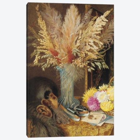 An autumnal still life, 1890  Canvas Print #BMN5001} by Marian Emma Chase Art Print