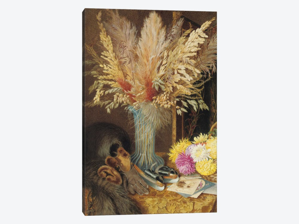 An autumnal still life, 1890  by Marian Emma Chase 1-piece Canvas Wall Art