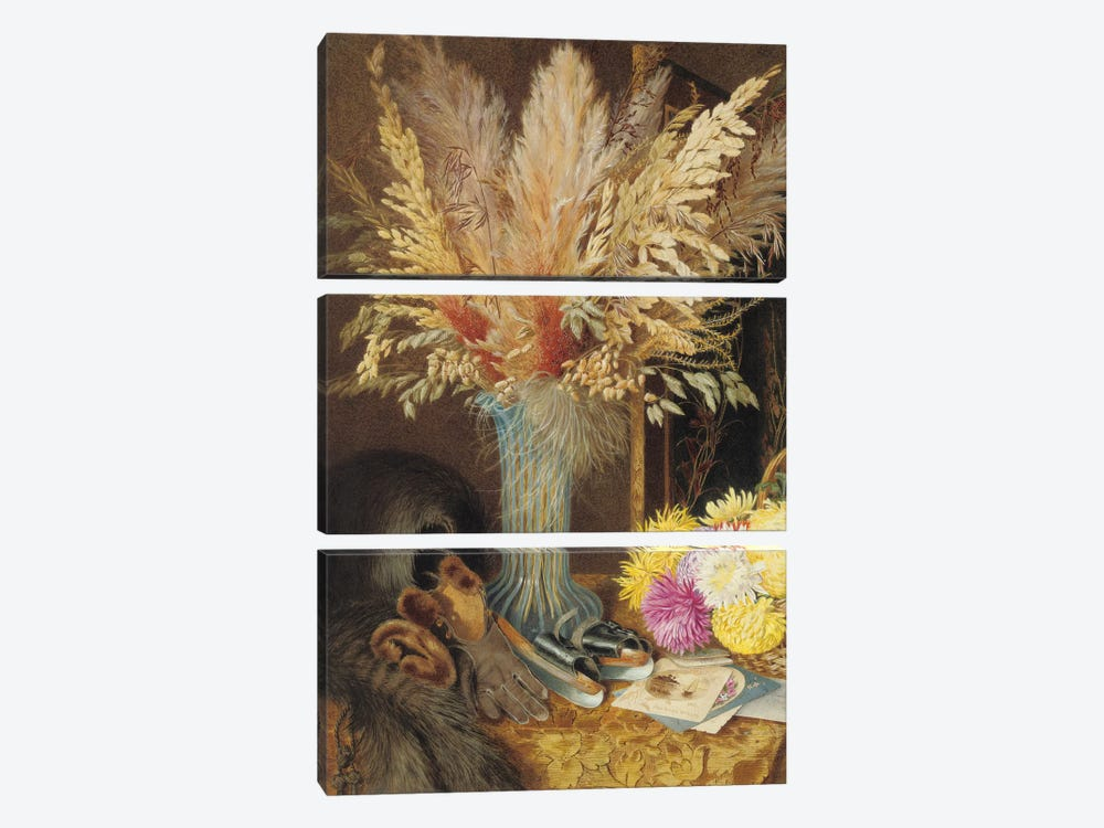 An autumnal still life, 1890  by Marian Emma Chase 3-piece Canvas Artwork
