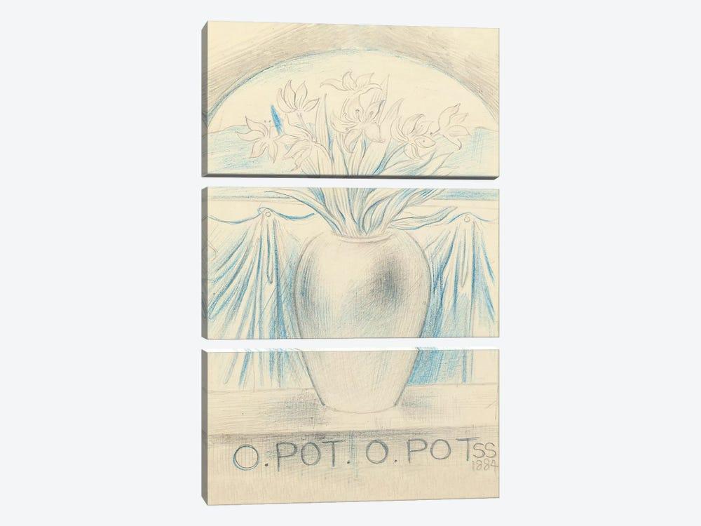 O Pot O Pot, 1884  by Simeon Solomon 3-piece Canvas Art Print