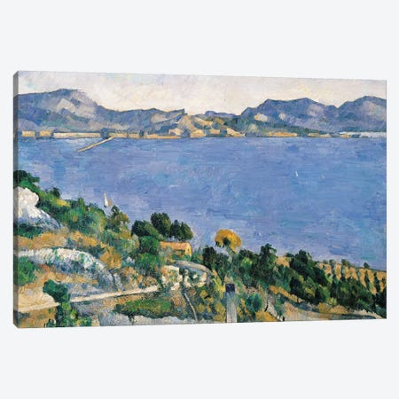 L'Estaque, View of the Bay of Marseilles, c.1878-79  Canvas Print #BMN500} by Paul Cezanne Canvas Art Print