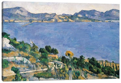 L'Estaque, View of the Bay of Marseilles, c.1878-79  Canvas Art Print