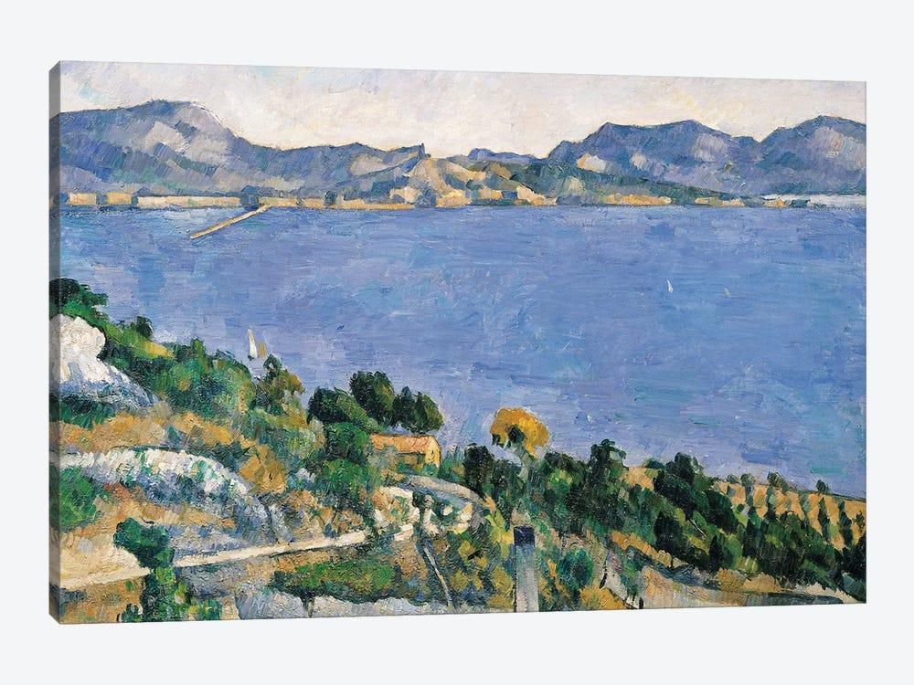 L'Estaque, View of the Bay of Marseilles, c.1878-79  by Paul Cezanne 1-piece Art Print