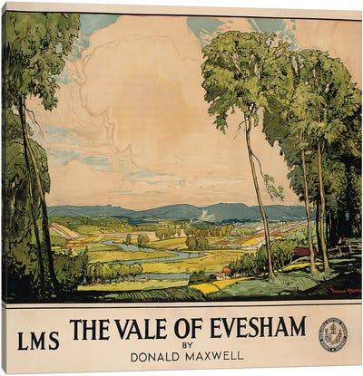 The Vale of Evesham, poster advertising London, Midland and Scottish Railway  Canvas Art Print