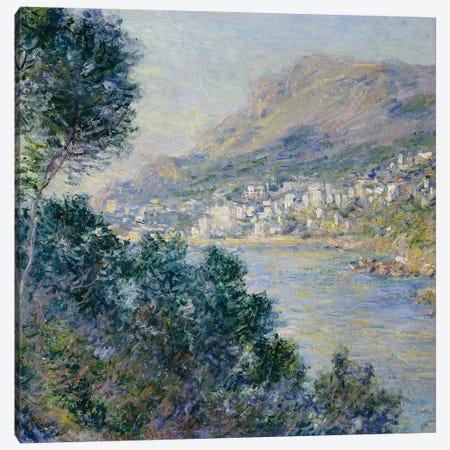 Monte Carlo, Vue de Cap Martin, 1884  Canvas Print #BMN5014} by Claude Monet Canvas Art Print