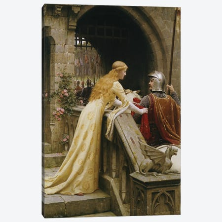 God Speed, 1900  Canvas Print #BMN5016} by Edmund Blair Leighton Canvas Art Print