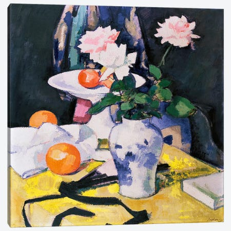 Roses and Oranges  Canvas Print #BMN5018} by Samuel John Peploe Canvas Art