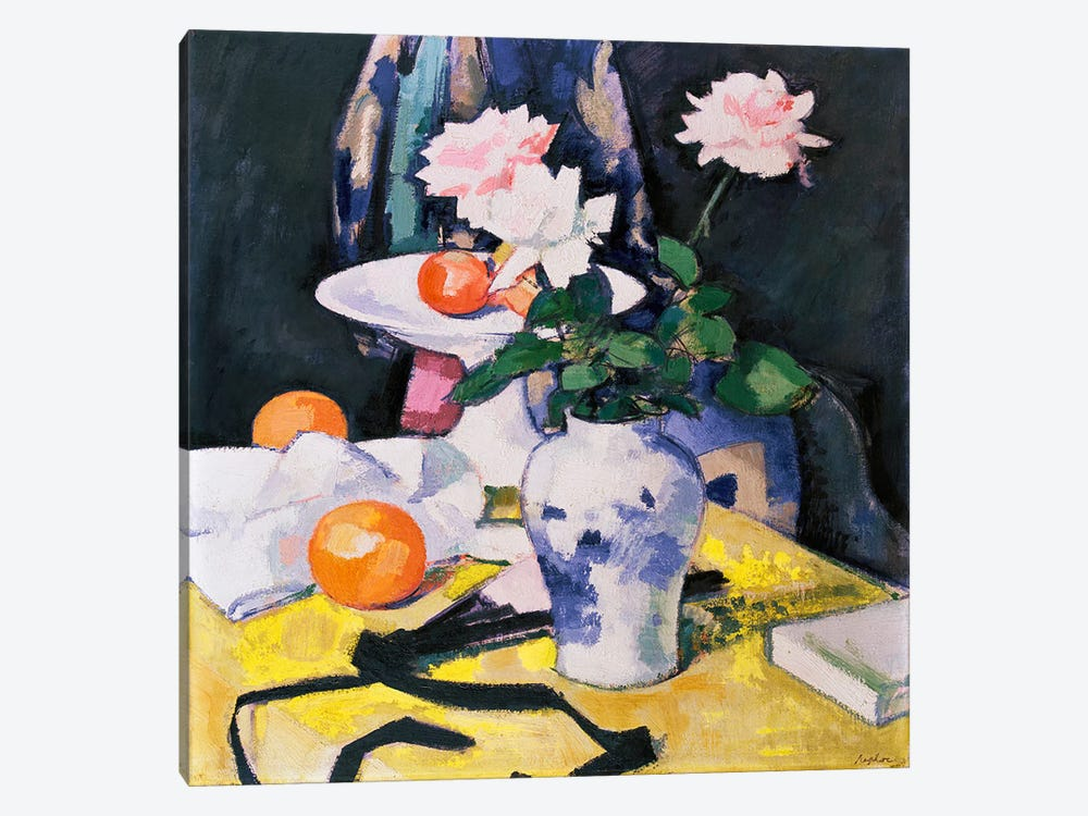 Roses and Oranges by Samuel John Peploe 1-piece Canvas Art