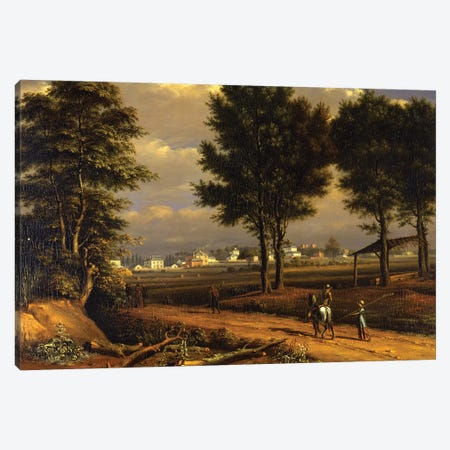 A view of the Alpha Cottages, near Paddington  Canvas Print #BMN5019} by John Seguier Canvas Art
