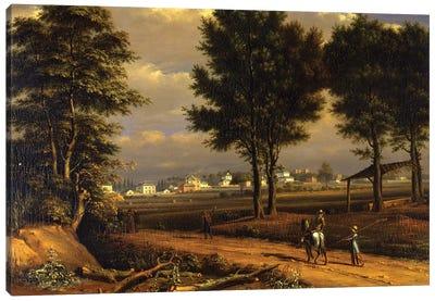 A view of the Alpha Cottages, near Paddington  Canvas Art Print