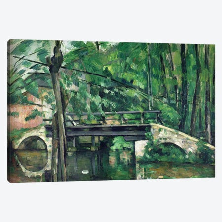 The Bridge at Maincy, or The Bridge at Mennecy, or The Little Bridge, c.1879  Canvas Print #BMN501} by Paul Cezanne Art Print