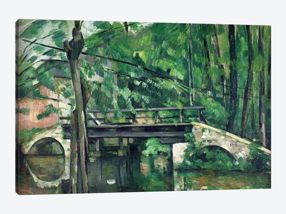 The Bridge at Maincy, or The Bridge at Mennecy, or The Little Bridge, c.1879  by Paul Cezanne 1-piece Canvas Artwork