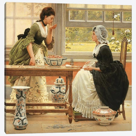 Pot-Pourri  Canvas Print #BMN5020} by George Dunlop Leslie Canvas Art Print