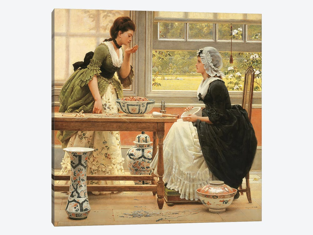 Pot-Pourri  by George Dunlop Leslie 1-piece Canvas Art Print
