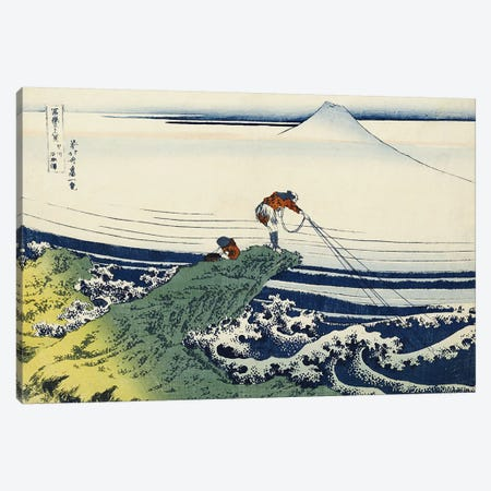 Kajikazawa in Kai Province, from the series 'Thirty-Six Views of Mount Fuji'  Canvas Print #BMN5023} by Katsushika Hokusai Art Print