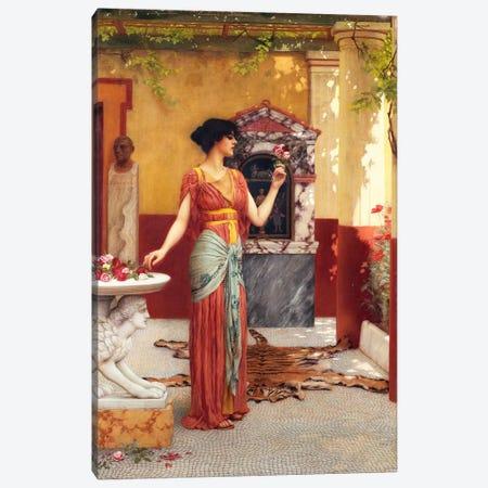 The Bouquet, 1899  Canvas Print #BMN5024} by John William Godward Canvas Art