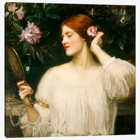 Vanity, c.1908-10  3-Piece Canvas #BMN5026} by John William Waterhouse Canvas Art