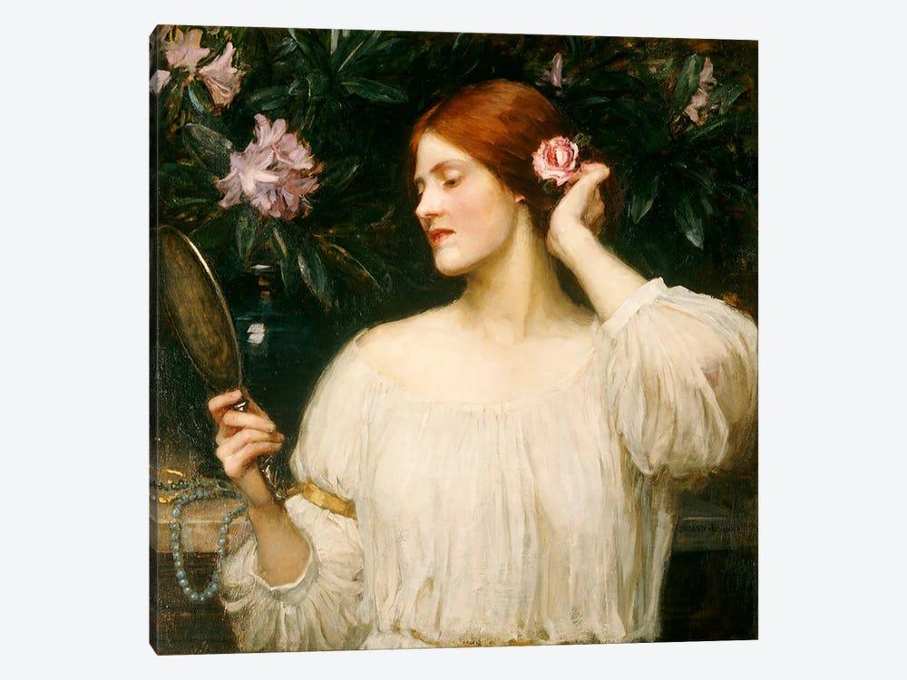 Vanity, c.1908-10  by John William Waterhouse 1-piece Canvas Art Print