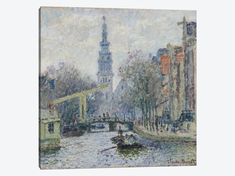 Canal a Amsterdam, 1874  by Claude Monet 1-piece Canvas Artwork
