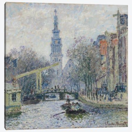 Canal a Amsterdam, 1874  Canvas Print #BMN5029} by Claude Monet Canvas Print