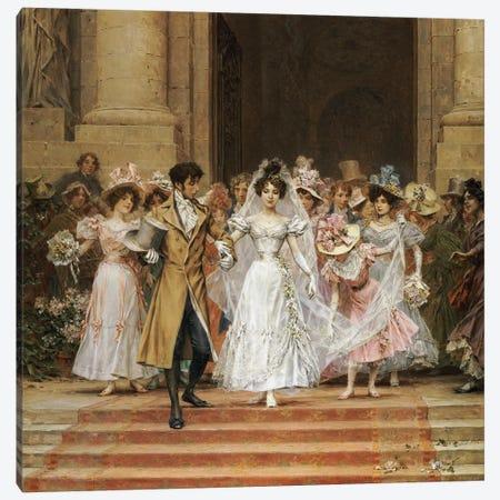The Wedding, Church of St. Roch, Paris  Canvas Print #BMN5030} by Frederik Hendrik Kaemmerer Canvas Artwork