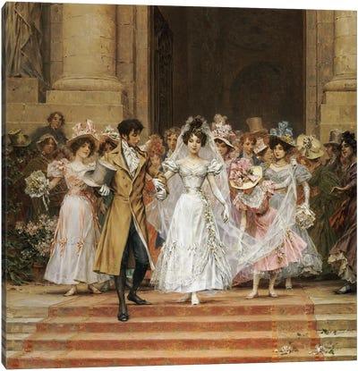 The Wedding, Church of St. Roch, Paris  Canvas Art Print