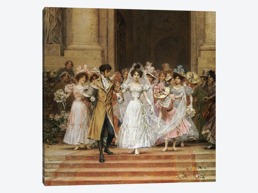 The Wedding, Church of St. Roch, Paris  by Frederik Hendrik Kaemmerer 1-piece Canvas Art
