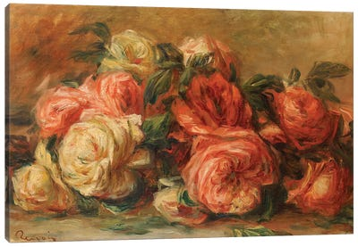 Discarded Roses  Canvas Art Print