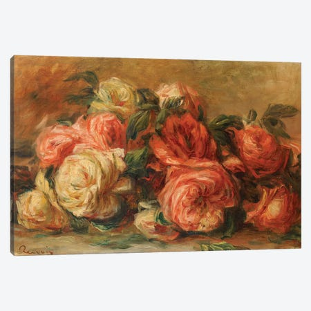 Discarded Roses  3-Piece Canvas #BMN5031} by Pierre-Auguste Renoir Canvas Wall Art