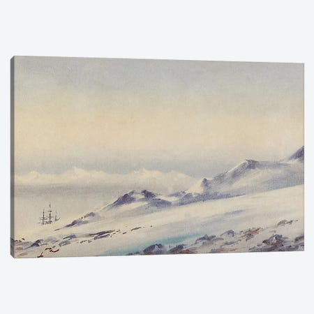 'Discovery' at Hut Point  Canvas Print #BMN5034} by Edward Adrian Wilson Canvas Art Print