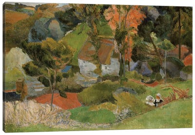 Landscape at Pont Aven, 1888  Canvas Art Print