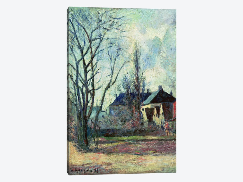 Winter Landscape at Copenhagen, 1885  by Paul Gauguin 1-piece Canvas Wall Art