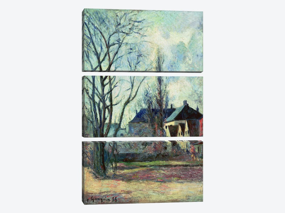 Winter Landscape at Copenhagen, 1885  by Paul Gauguin 3-piece Canvas Art