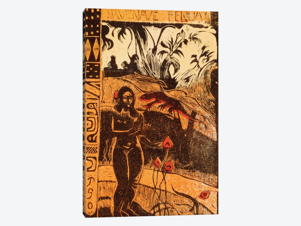 Nave Nave Fenua  by Paul Gauguin 1-piece Art Print