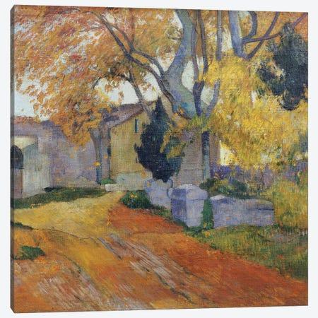 L'Allee des Alyscamps  Canvas Print #BMN5038} by Paul Gauguin Canvas Art