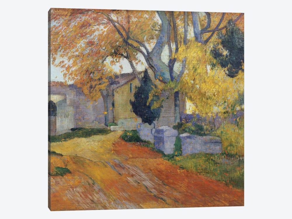 L'Allee des Alyscamps  by Paul Gauguin 1-piece Canvas Artwork