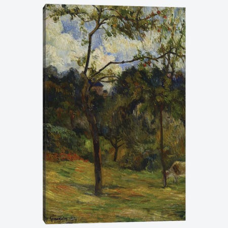 Normandy Landscape: Cow in a Meadow, 1884  Canvas Print #BMN5039} by Paul Gauguin Canvas Wall Art