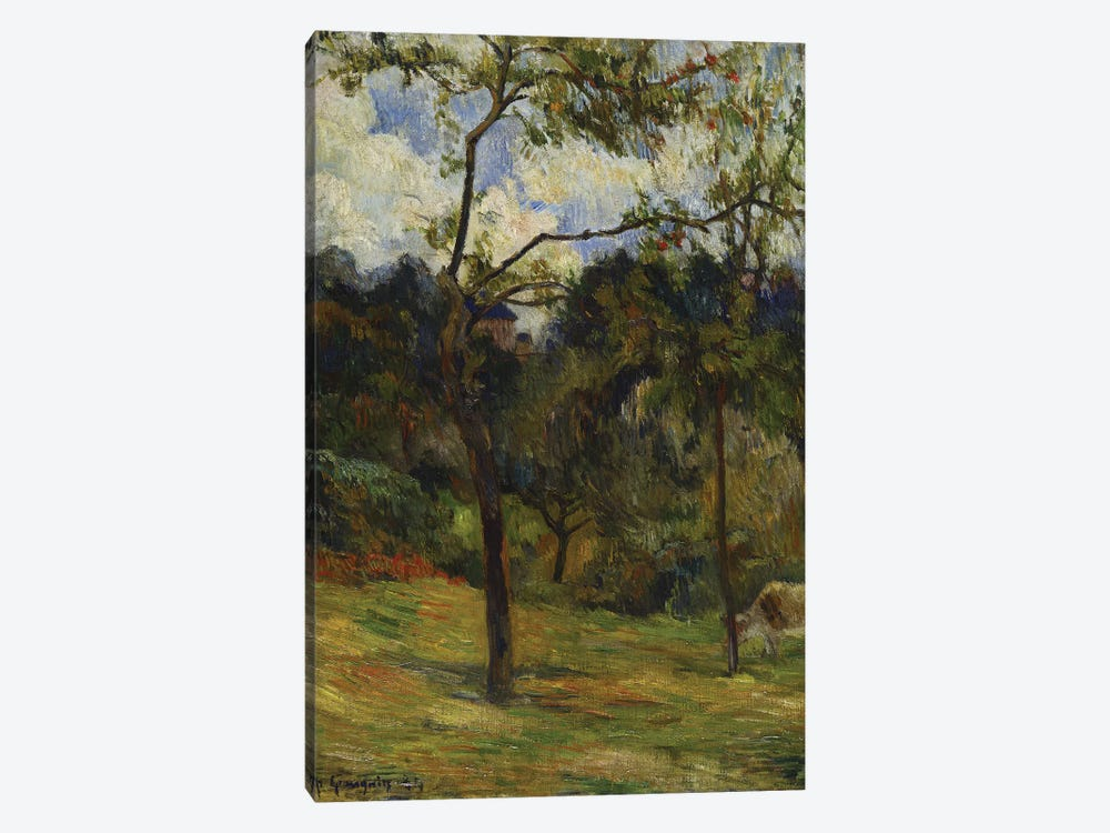 Normandy Landscape: Cow in a Meadow, 1884  by Paul Gauguin 1-piece Canvas Art Print