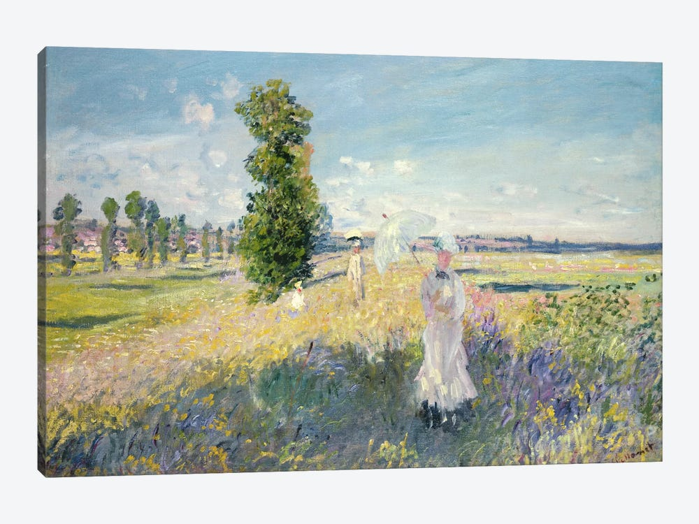 The Walk  by Claude Monet 1-piece Canvas Wall Art