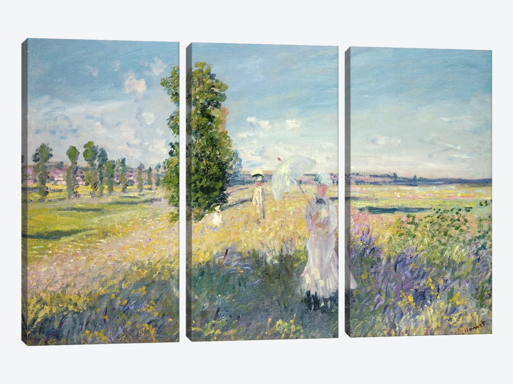 The Walk  by Claude Monet 3-piece Canvas Artwork