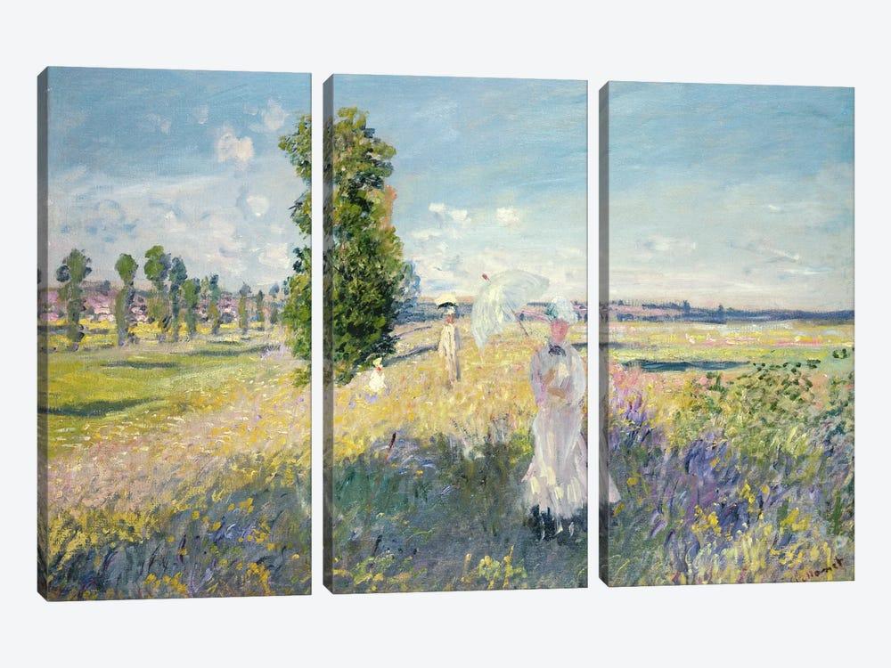 The Walk  by Claude Monet 3-piece Canvas Artwork