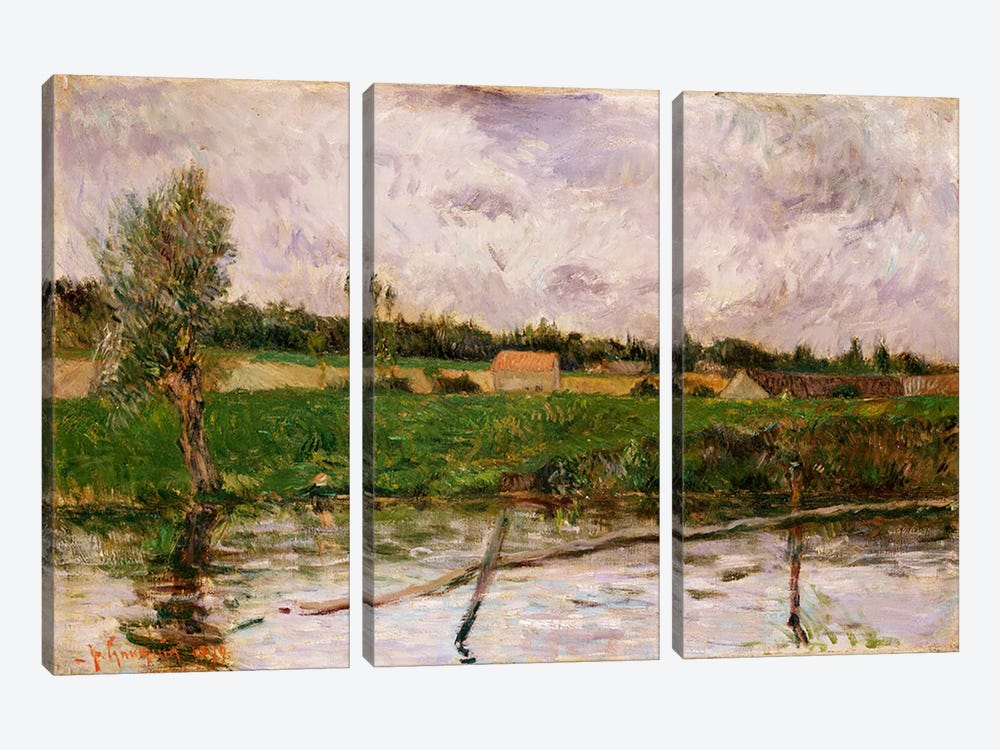 Brittany Countryside, 1879  by Paul Gauguin 3-piece Canvas Wall Art